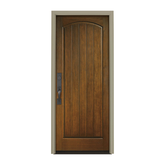 Architect Series Plank 1 Panel Arch Entry Door Solid Panel